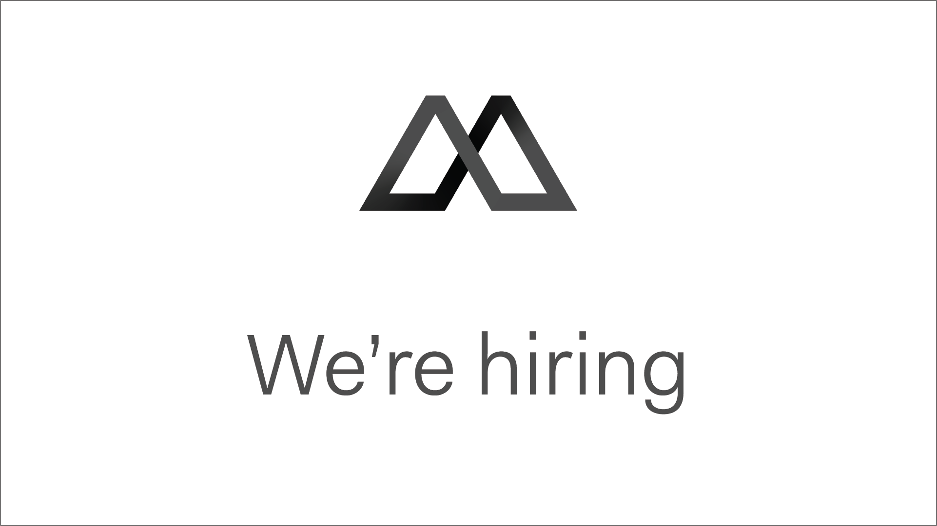 Manto logo advertising that the company is hiring